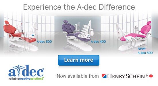 A-dec - Now available from Henry Schein