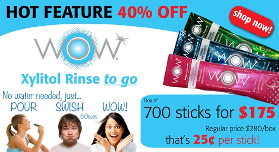Hot Feature 40% off WOW Xylitol Rinse!