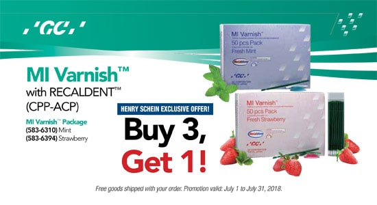 MI Varnish with Recaldent (CPP-ACP) - Buy 3, Get 1!