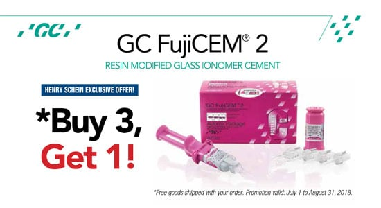 GC FujiCEM 2 - Henry Schein Exclusive - Buy 3, Get 1!