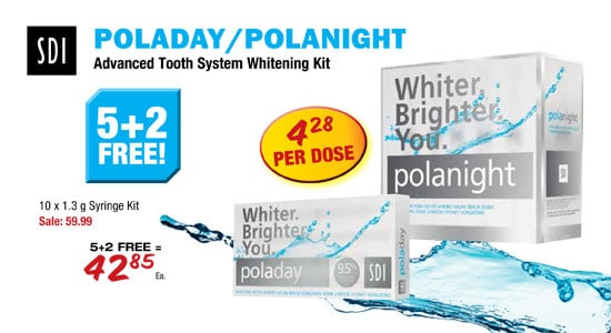 SDI - PolaDay/PolaNight Advanced Tooth Sytem Whitening Kit - 5 + 2 Free!