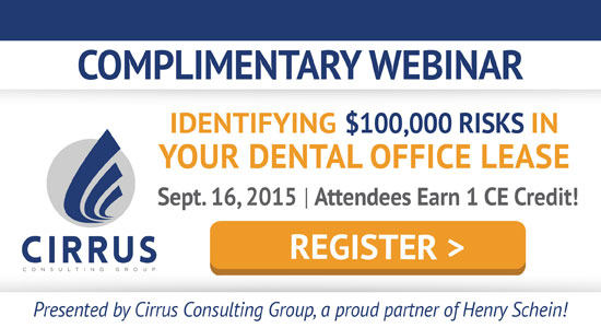 Complimentary Webinar - Identifying $100,000 Risks in your dental office lease!