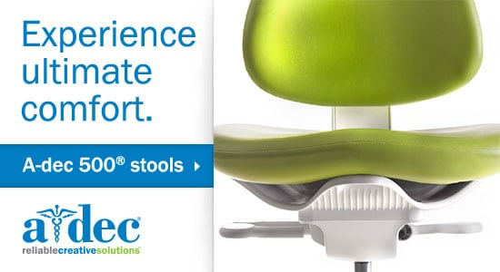 Experience ultimate comfort - A-dec 500 stools